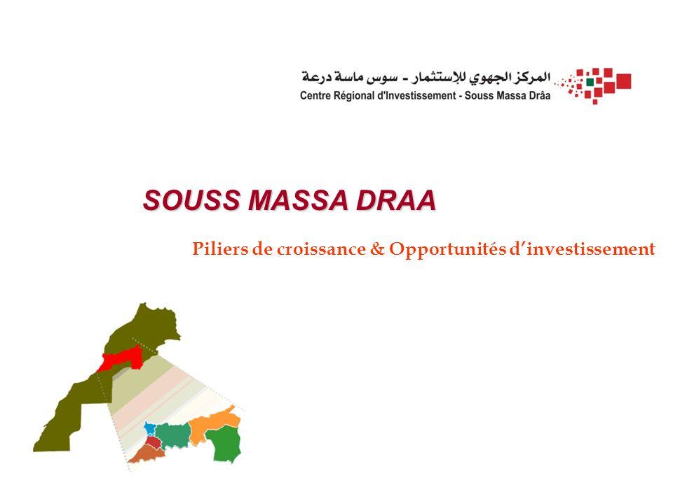 SOUSS MASSA DRAA Piliers de croissance & Opportunités dinvestissement