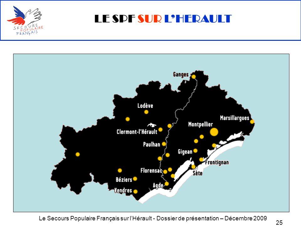 Le Secours Populaire Français sur lHérault - Dossier de présentation – Décembre 2009 25 LE SPF SUR LHERAULT