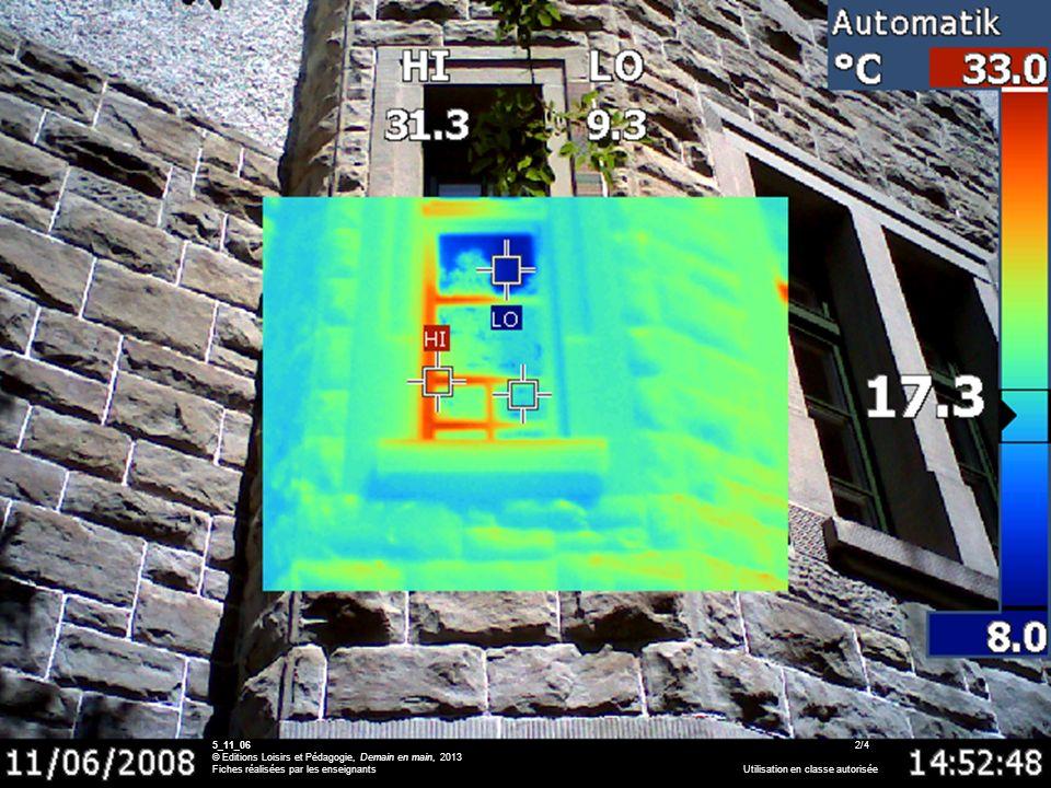 516_04_Waermebilder 5_11_06 2/4 © Editions Loisirs et Pédagogie, Demain en main, 2013 Fiches réalisées par les enseignants Utilisation en classe autor