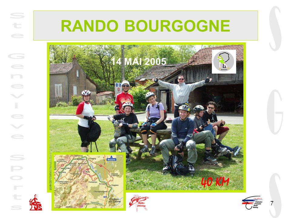 7 RANDO BOURGOGNE 14 MAI 2005 40 KM