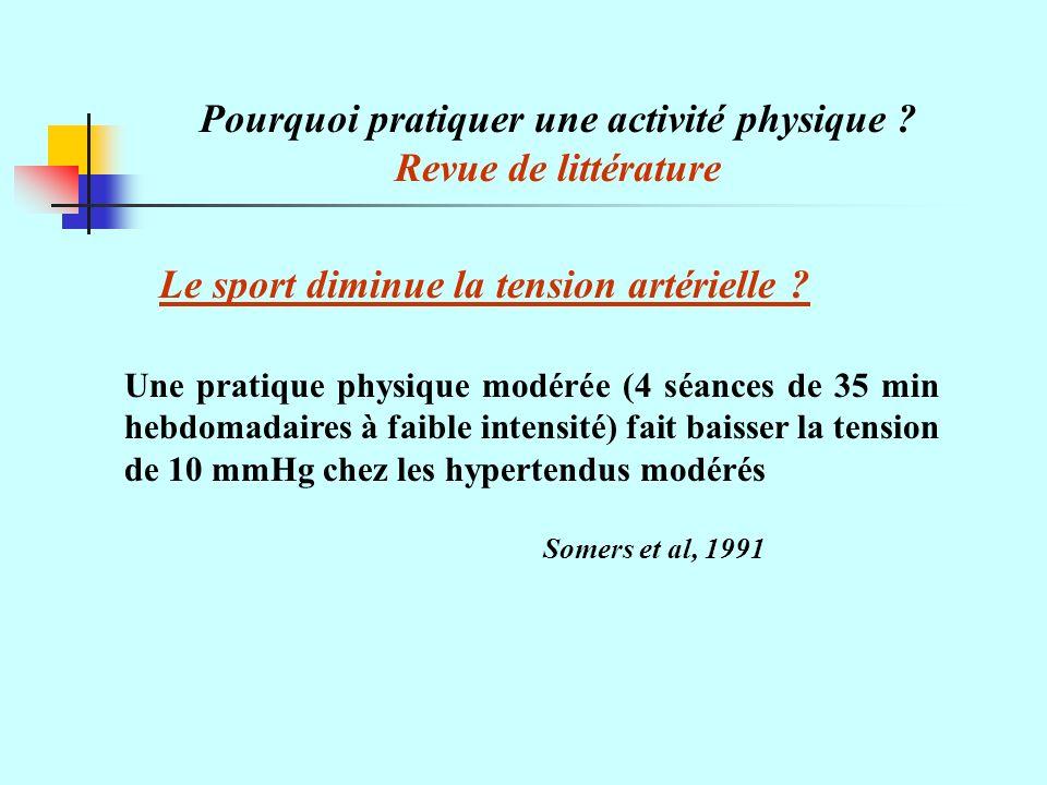 Pourquoi pratiquer une activité physique .