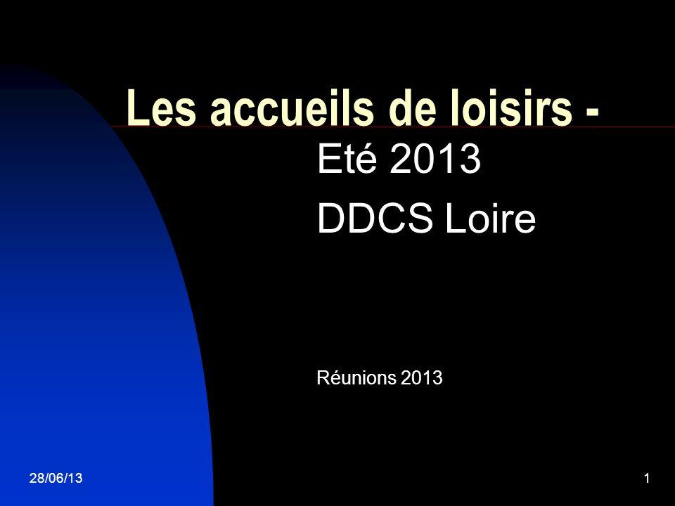 28/06/131 Les accueils de loisirs - Eté 2013 DDCS Loire Réunions 2013