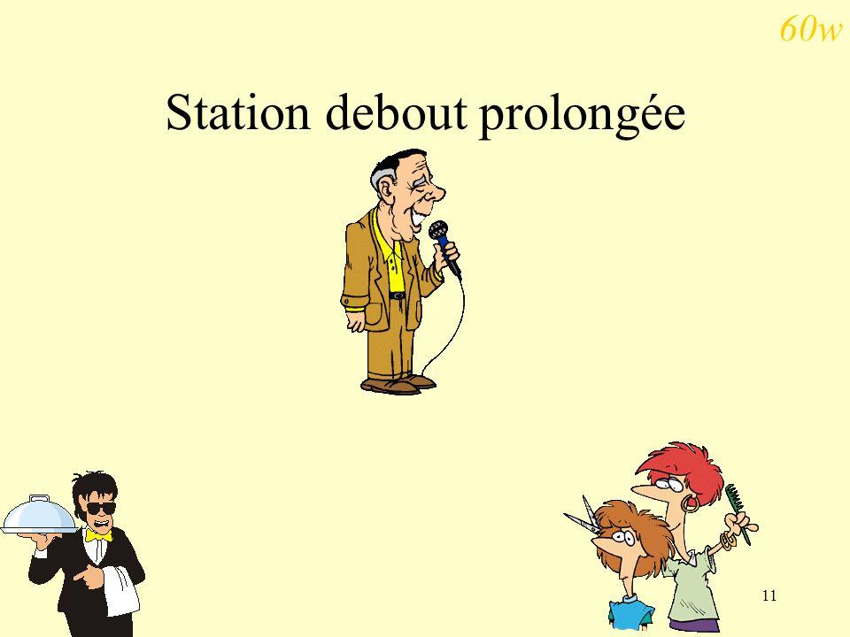 11 Station debout prolongée 60w