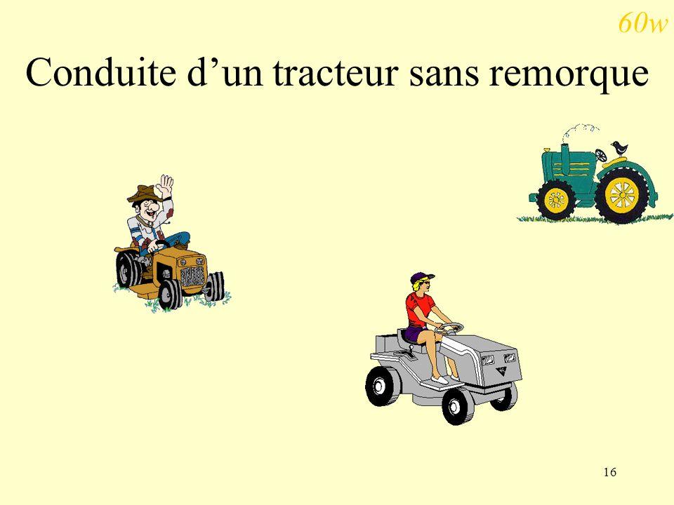 16 Conduite dun tracteur sans remorque 60w