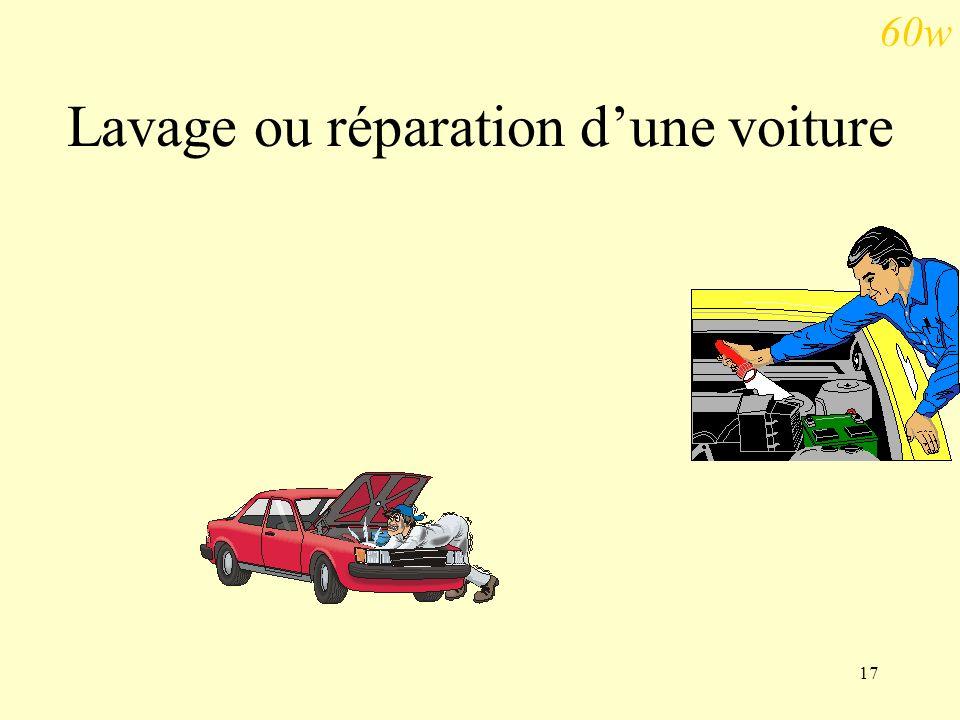 17 Lavage ou réparation dune voiture 60w