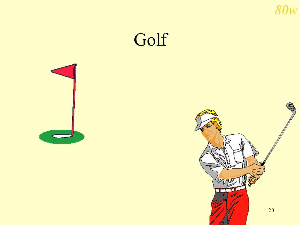 23 Golf 80w