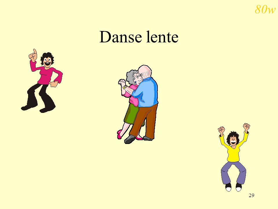 29 Danse lente 80w