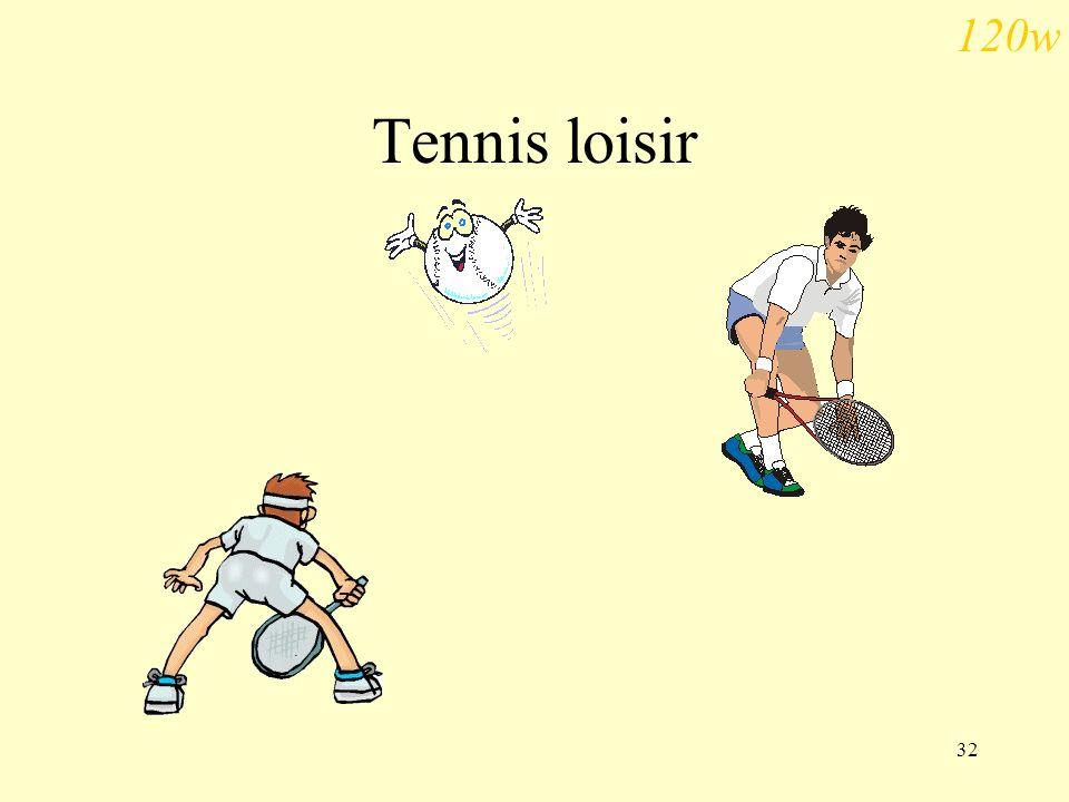 32 Tennis loisir 120w