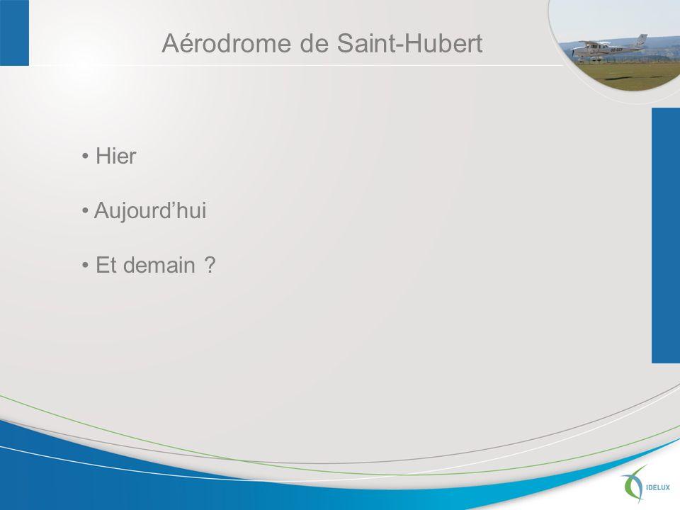 Aérodrome de Saint-Hubert Hier Aujourdhui Et demain