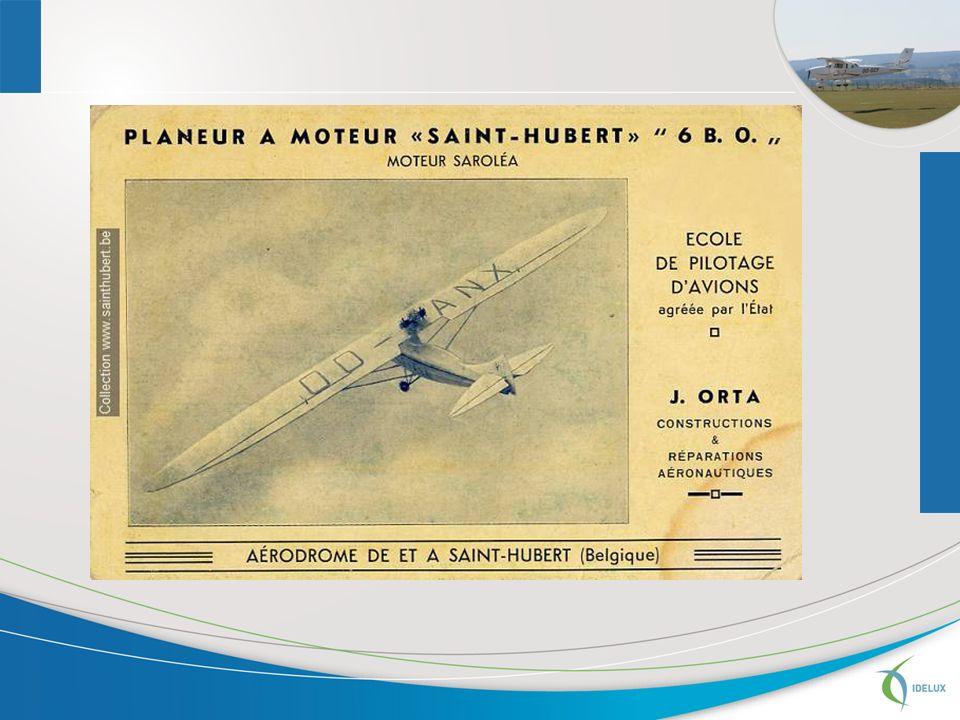 1946 : cession à lEtat belge des droits de Mr Orta et de lexploitation de laérodrome; 1948 : création de la Régie de Voies aériennes (RVA) qui se substitue à lEtat belge; 1954-1955 : aménagement de laérodrome pour y accueillir le Centre National du Vol à Voile; 1958 :création de laéroclub des Ardennes 1992 :régionalisation des biens, droits et obligations de la RVA : le MET assume lexploitation et le commandement du site; lEtat belge (aujourdhui via Belgacontrol) garde la sécurité aérienne.