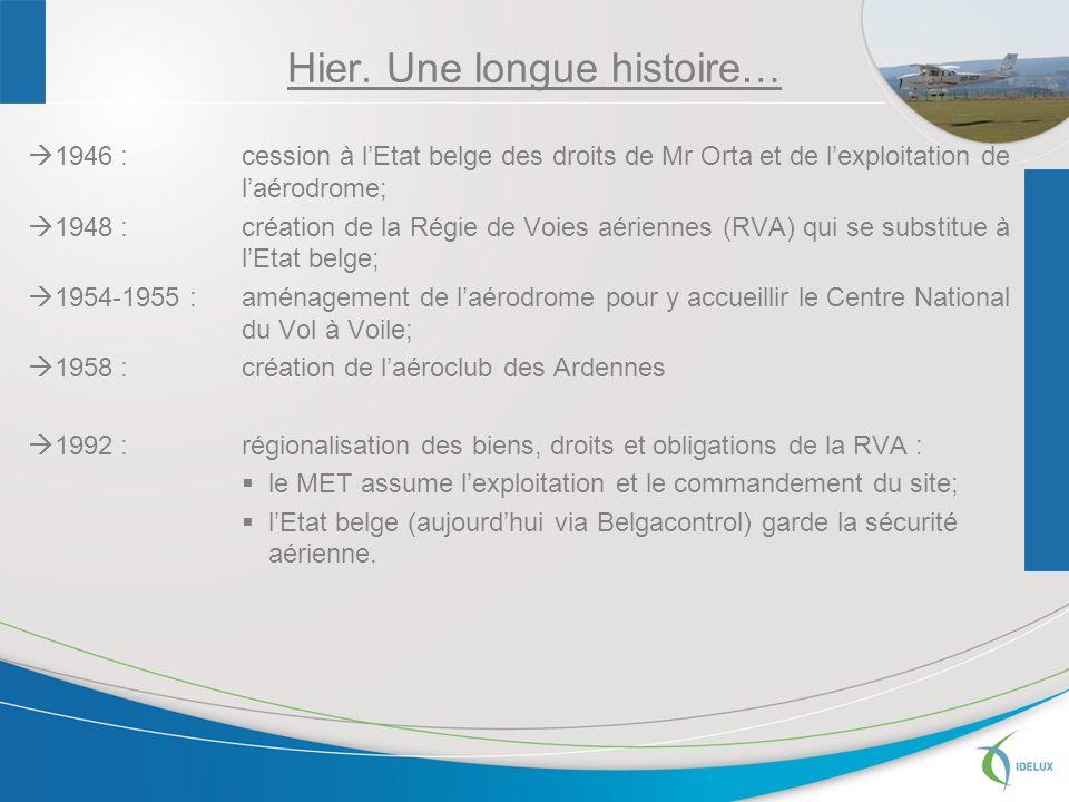 2003 : gestion des aérodromes régionaux confiée à la Sowaer Sa transfert des infrastructures depuis la RW & octroi dune concession à la Sowaer par la RW sur les terrains la RW garde le commandement et lexécution de différentes tâches aéronautiques.