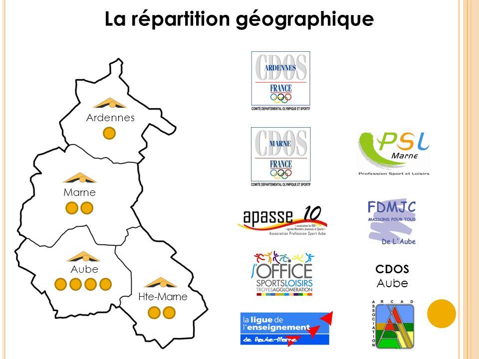 CDOS Aube Ardennes Marne Aube Hte-Marne La répartition géographique