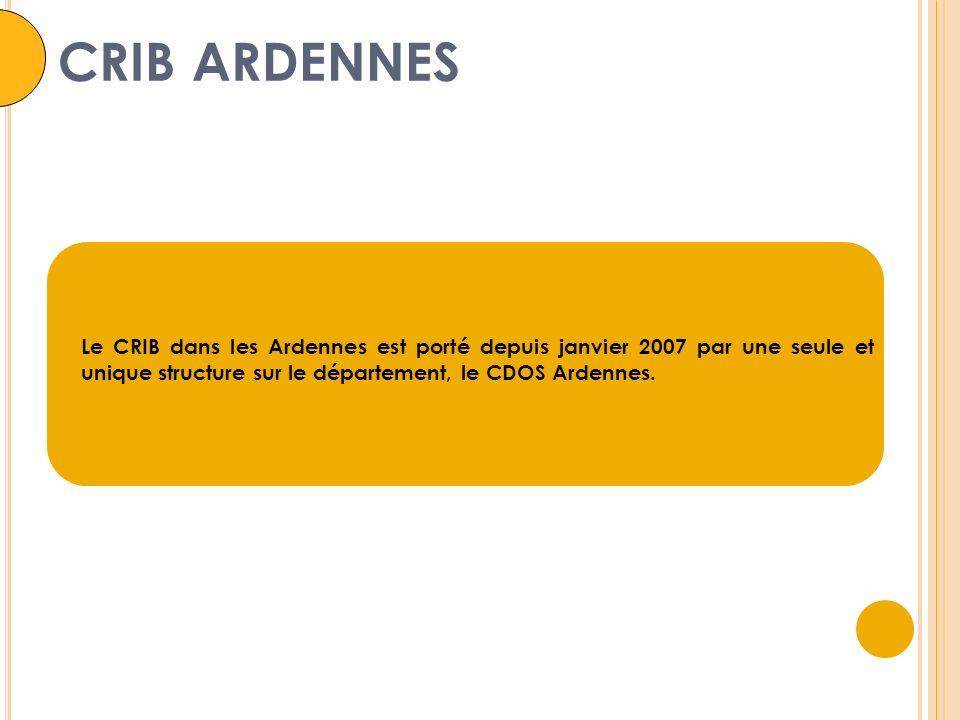 CRIB ARDENNES Le CRIB dans les Ardennes est porté depuis janvier 2007 par une seule et unique structure sur le département, le CDOS Ardennes.