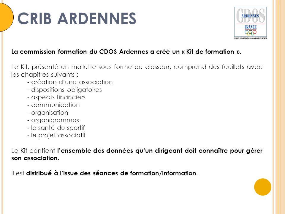 La commission formation du CDOS Ardennes a créé un « Kit de formation ».