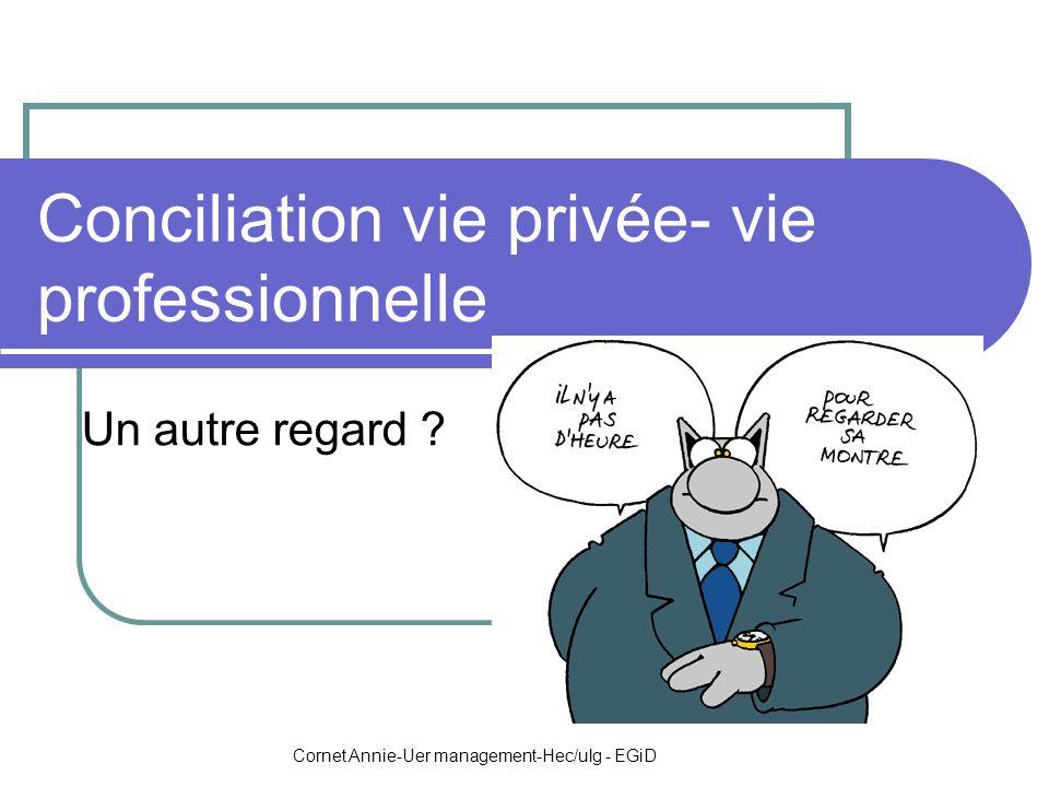 Cornet Annie-Uer management-Hec/ulg - EGiD Conciliation vie privée- vie professionnelle Un autre regard ?