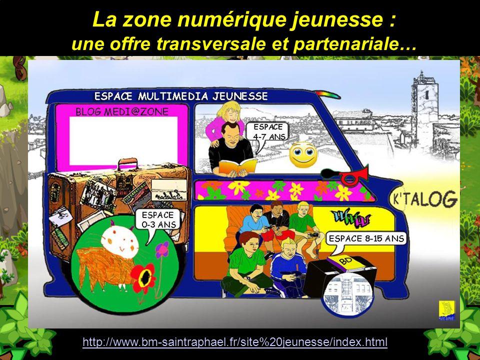 La zone numérique jeunesse : une offre transversale et partenariale… http://www.bm-saintraphael.fr/site%20jeunesse/index.html