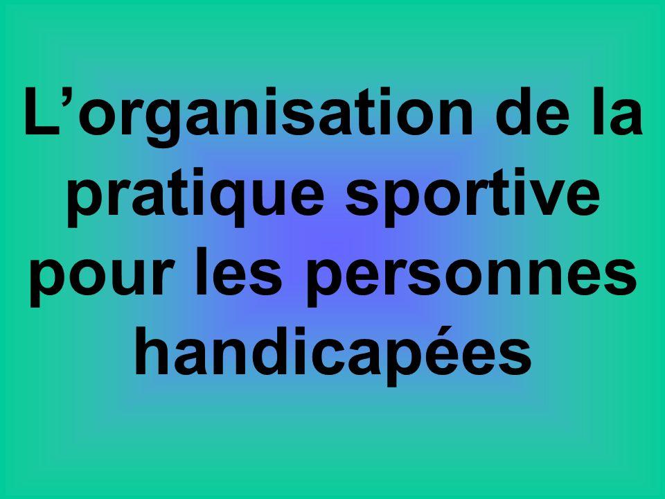 Lorganisation de la pratique sportive pour les personnes handicapées