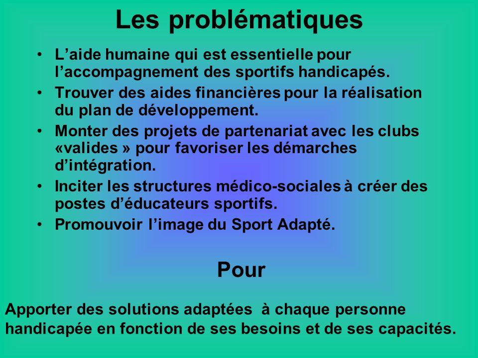 Laide humaine qui est essentielle pour laccompagnement des sportifs handicapés.