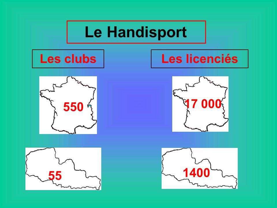 Le Handisport 550 55 17 000 1400 Les clubsLes licenciés