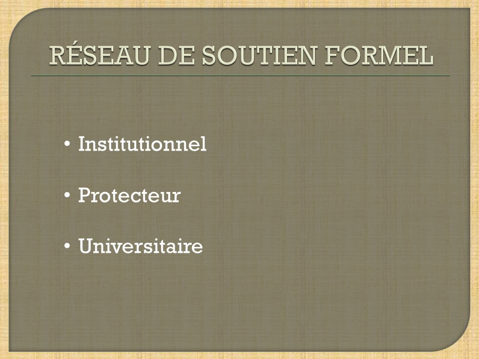 Institutionnel Protecteur Universitaire