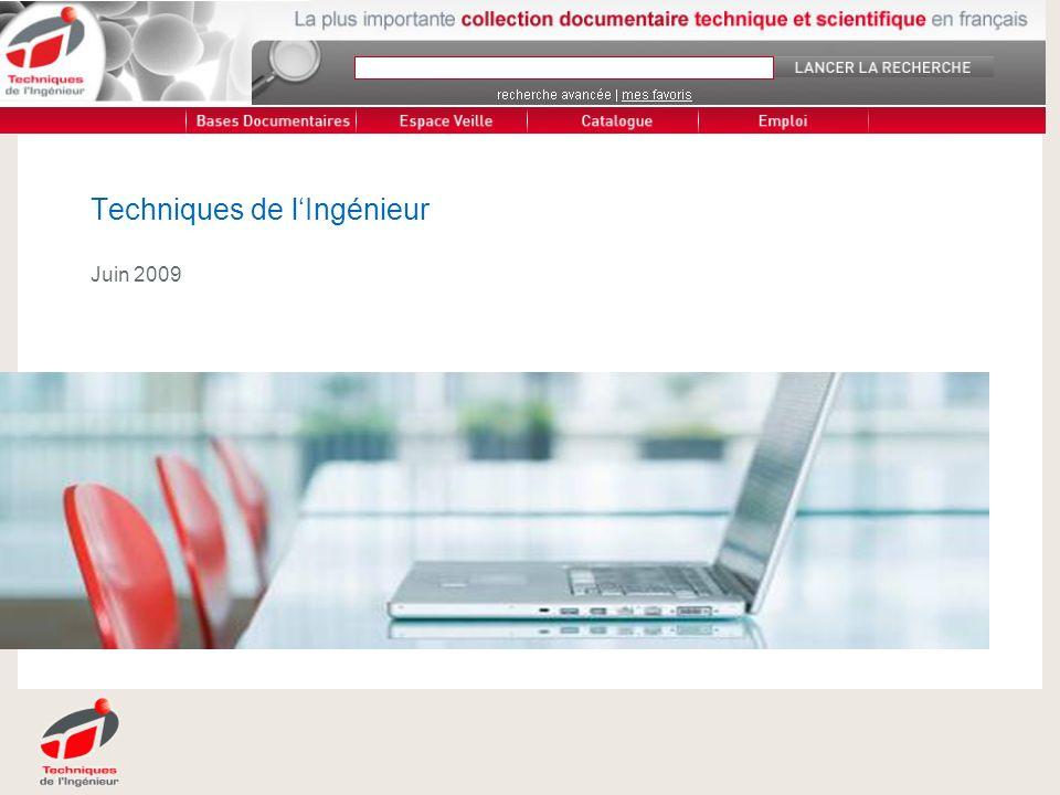 | 08/2008 |PRESENTATION DE L ENTREPRISE 12 Techniques-ingenieur.fr 60 000 pages documentaires en ligne Constituées darticles rédigés par les meilleurs spécialistes de chaque domaine.