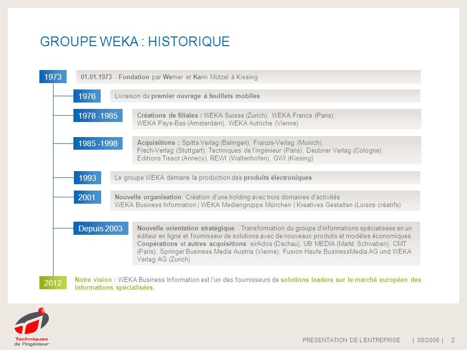 | 08/2008 |PRESENTATION DE L ENTREPRISE 23 Quoi de nouveau sur ce site .