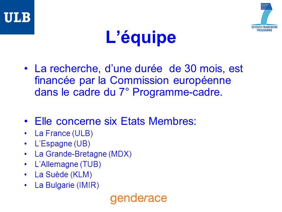 Léquipe La recherche, dune durée de 30 mois, est financée par la Commission européenne dans le cadre du 7° Programme-cadre.