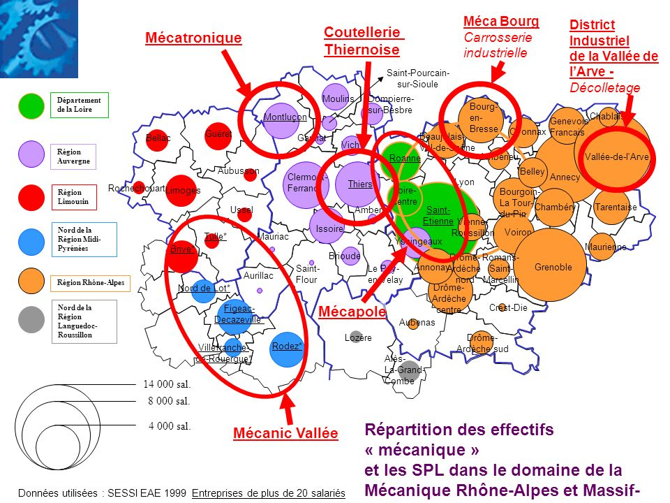 Aurillac Mauriac Saint- Flour Clermont- Ferrand Gannat Issoire Brioude Montluçon MoulinsDompierre- sur-Besbre Le Puy- en-Velay Thiers Ambert Vichy Sai