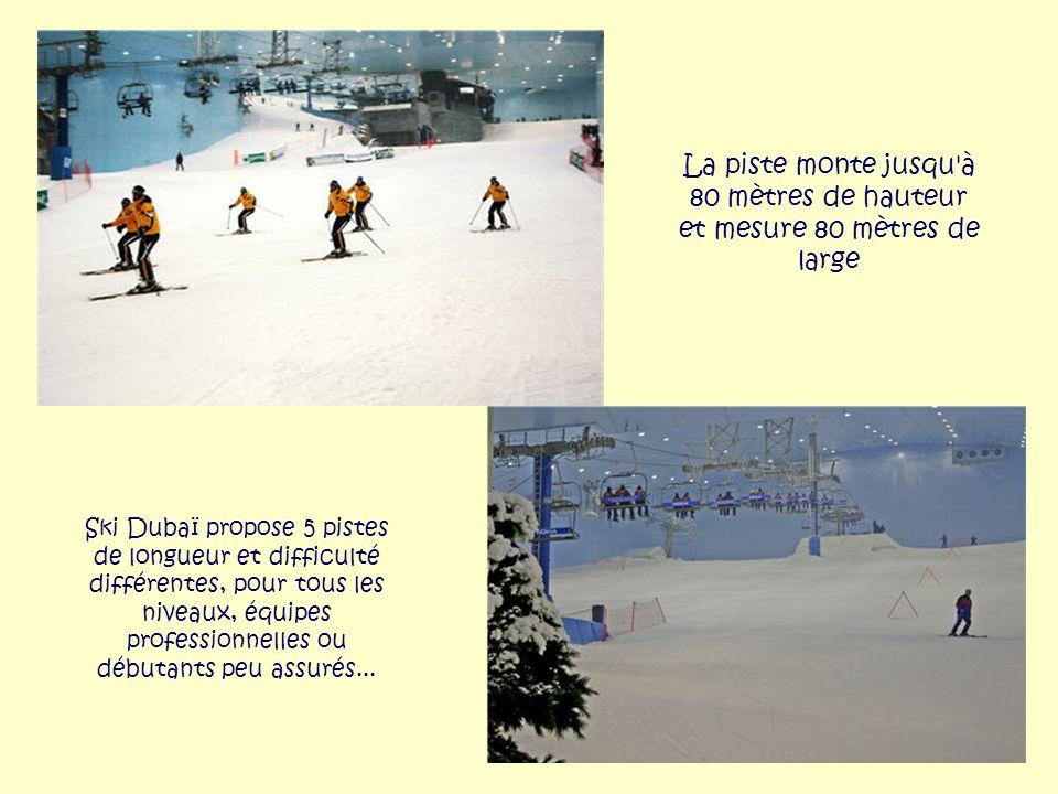 Pas de pause au soleil, mais des terrasses quand même : les skieurs peuvent se réchauffer autour d'une boisson chaude au