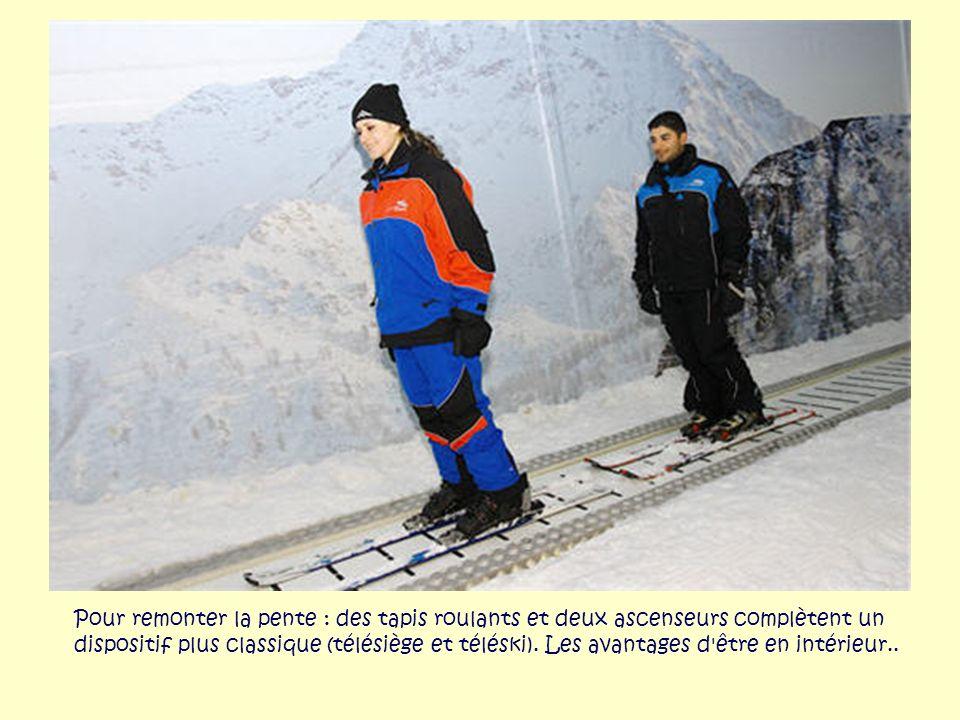 La piste monte jusqu'à 80 mètres de hauteur et mesure 80 mètres de large Ski Dubaï propose 5 pistes de longueur et difficulté différentes, pour tous l