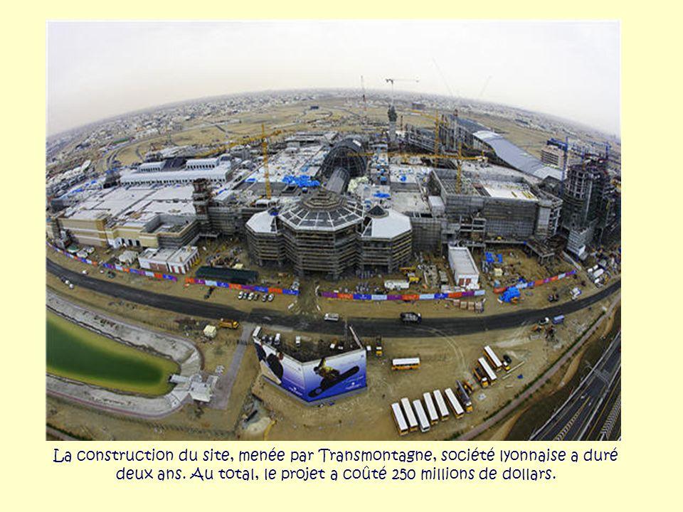 La construction du site, menée par Transmontagne, société lyonnaise a duré deux ans.