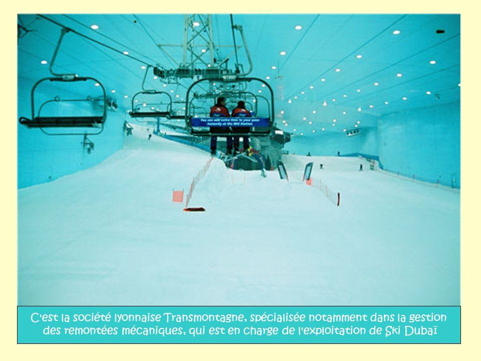 C est la société lyonnaise Transmontagne, spécialisée notamment dans la gestion des remontées mécaniques, qui est en charge de l exploitation de Ski Dubaï
