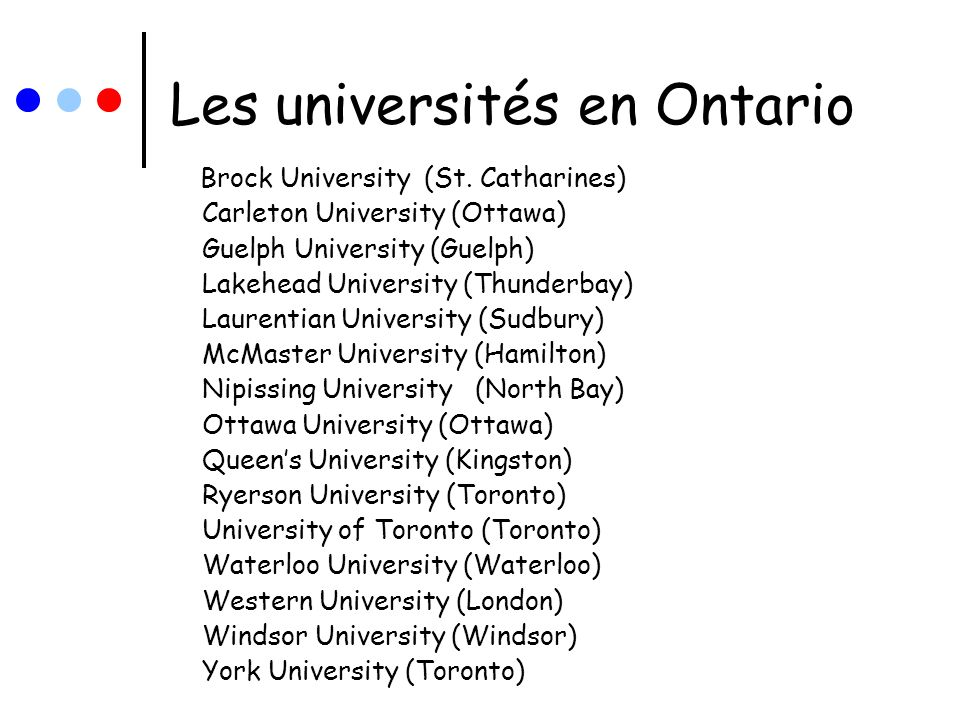 LES FORMATIONS Voir le document avec les formations quoffrent chaque université.