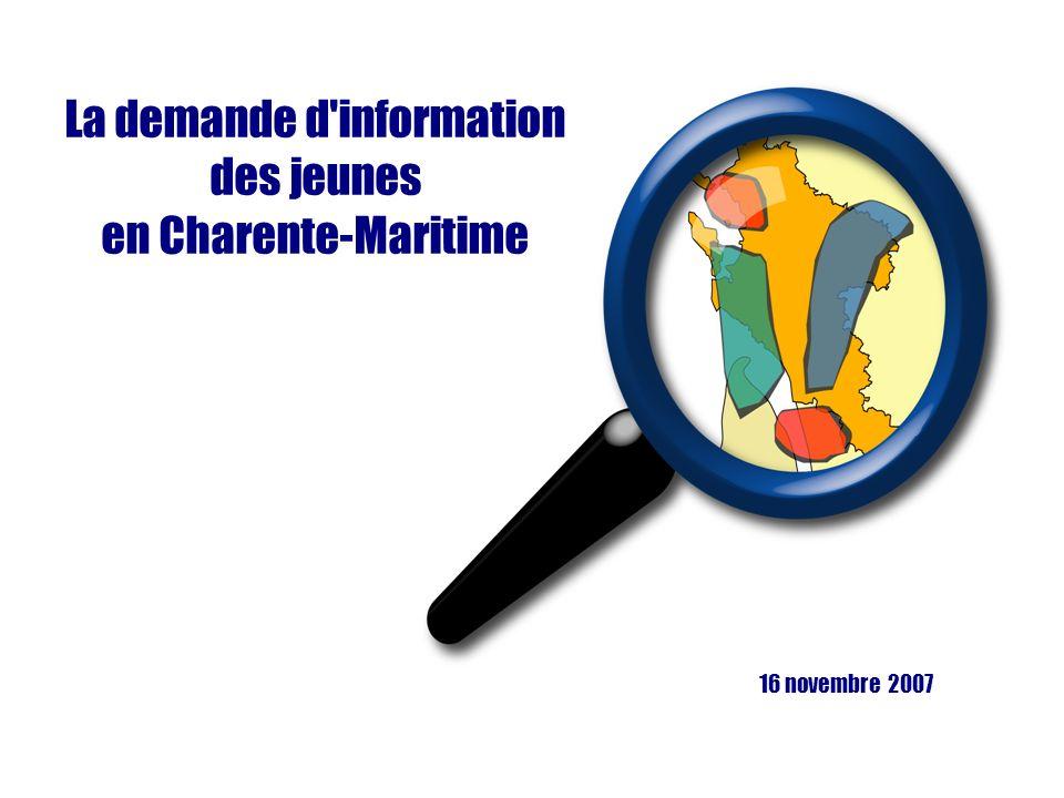 La demande d information des jeunes en Charente-Maritime 16 novembre 2007