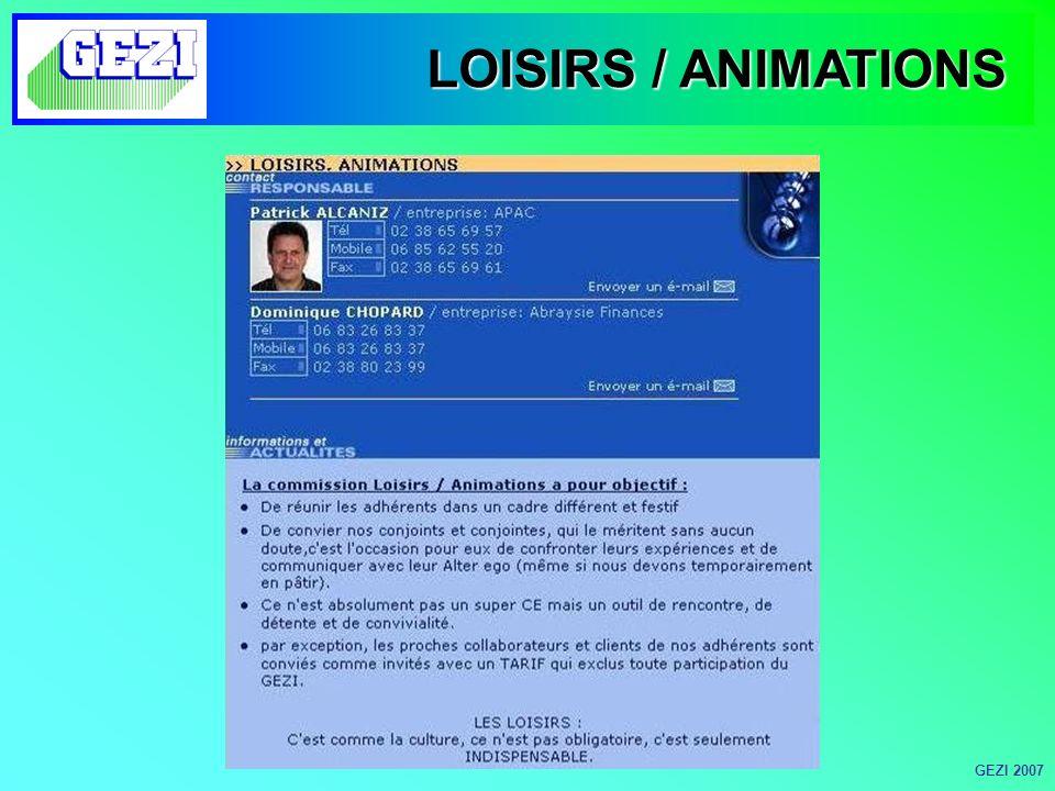 LOISIRS / ANIMATIONS GEZI 2007