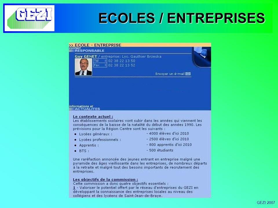 ECOLES / ENTREPRISES GEZI 2007