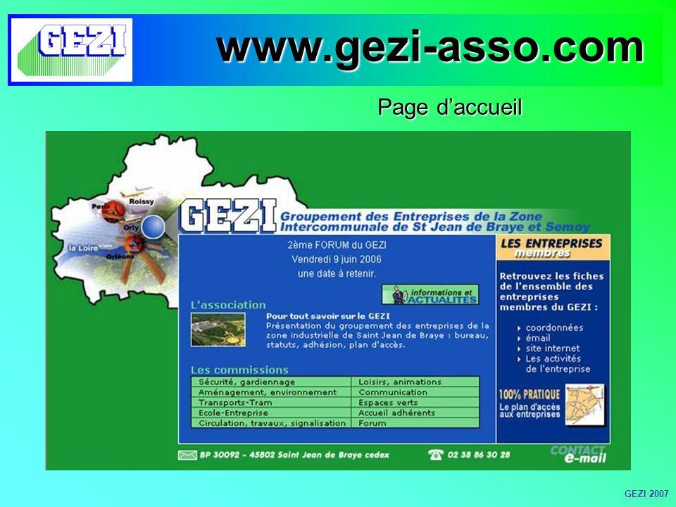 Page daccueil www.gezi-asso.com GEZI 2007