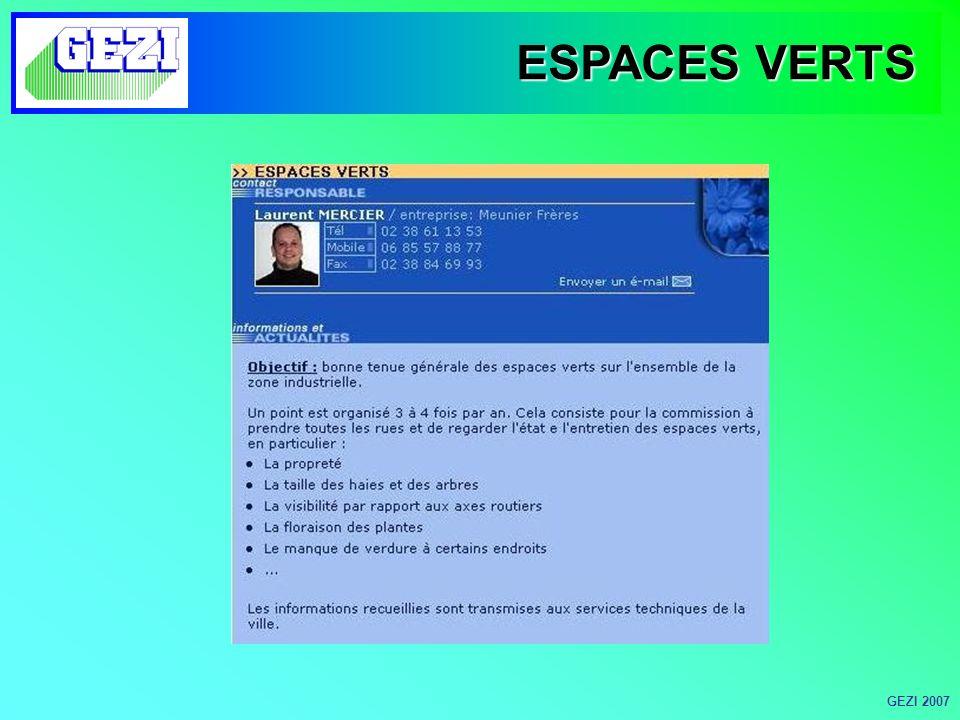ESPACES VERTS GEZI 2007