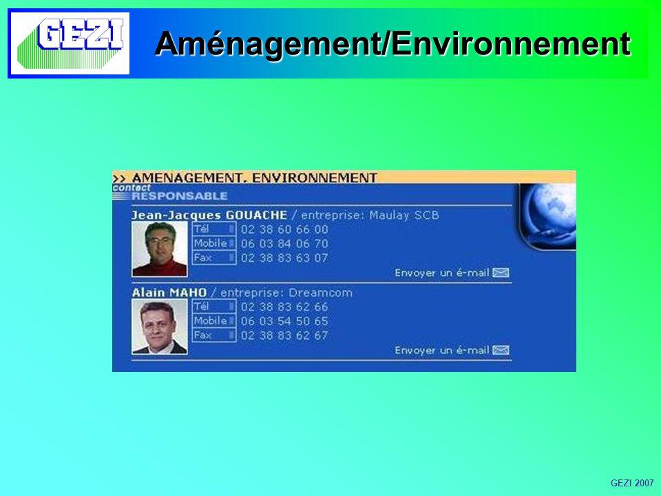 Aménagement/Environnement