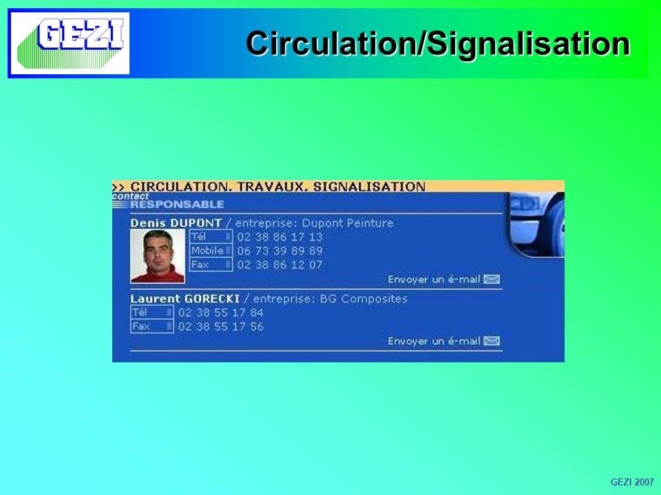 Circulation/Signalisation