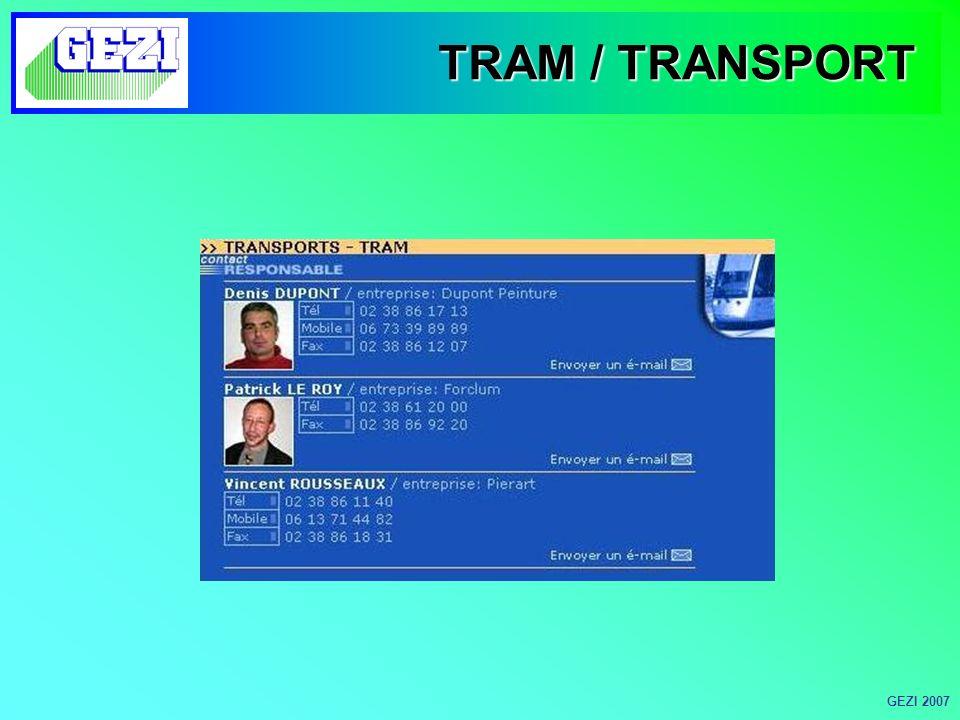 TRAM / TRANSPORT GEZI 2007