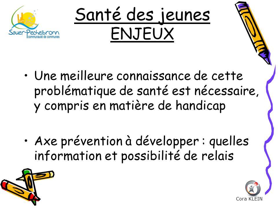Santé des jeunes ENJEUX Une meilleure connaissance de cette problématique de santé est nécessaire, y compris en matière de handicap Axe prévention à d