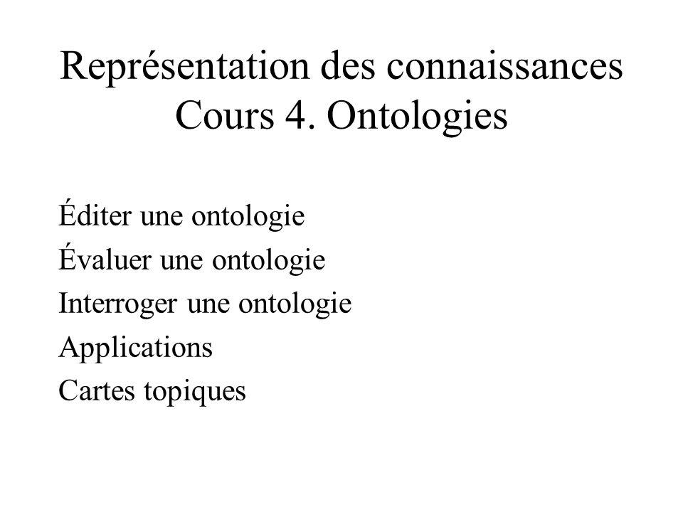 Représentation des connaissances Cours 4.