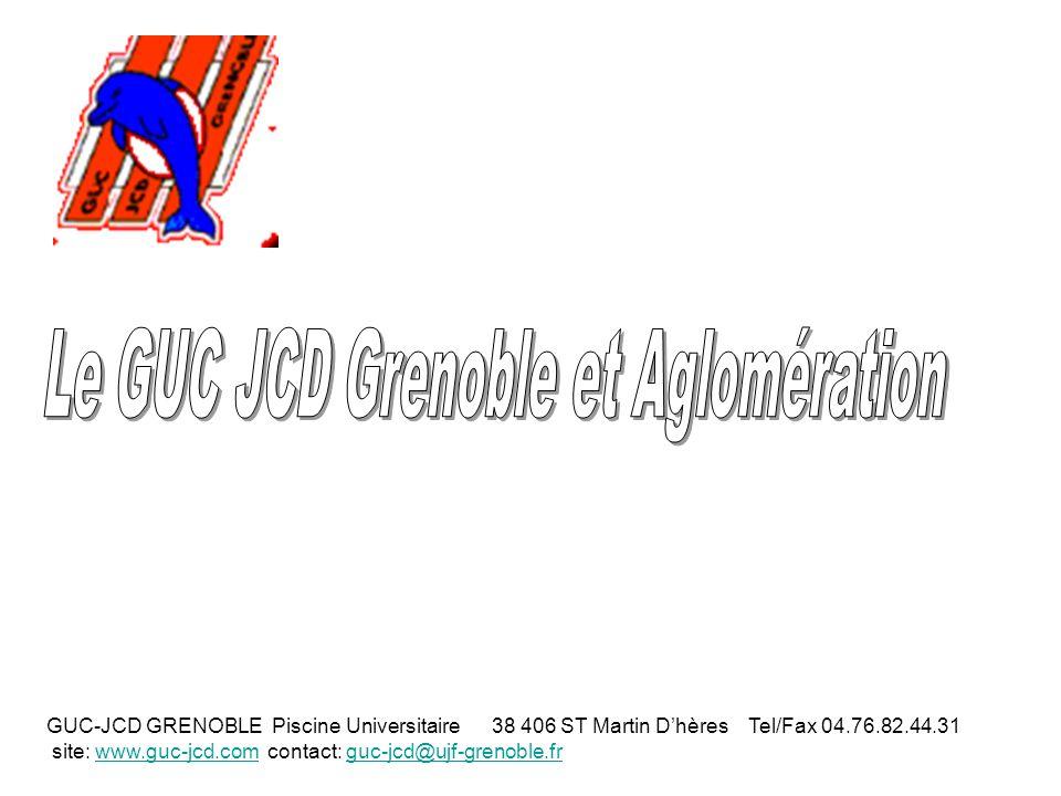 GUC-JCD GRENOBLE Piscine Universitaire 38 406 ST Martin Dhères Tel/Fax 04.76.82.44.31 site: www.guc-jcd.com contact: guc-jcd@ujf-grenoble.frwww.guc-jcd.comguc-jcd@ujf-grenoble.fr