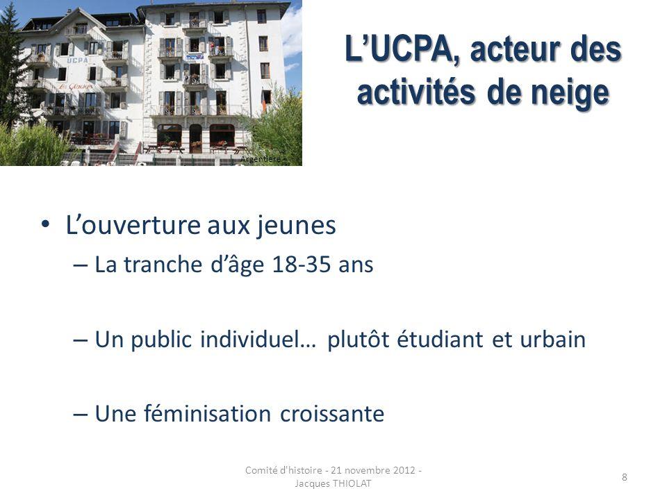LUCPA, acteur des activités de neige Le stage UCPA – Les activités : le ski alpin avant tout .