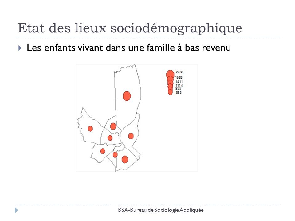 Etat des lieux sociodémographique Les enfants vivant dans une famille à bas revenu BSA-Bureau de Sociologie Appliquée