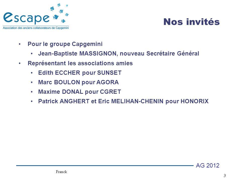 24 AG 2012 Club Investisseurs Pourquoi nous rejoindre .