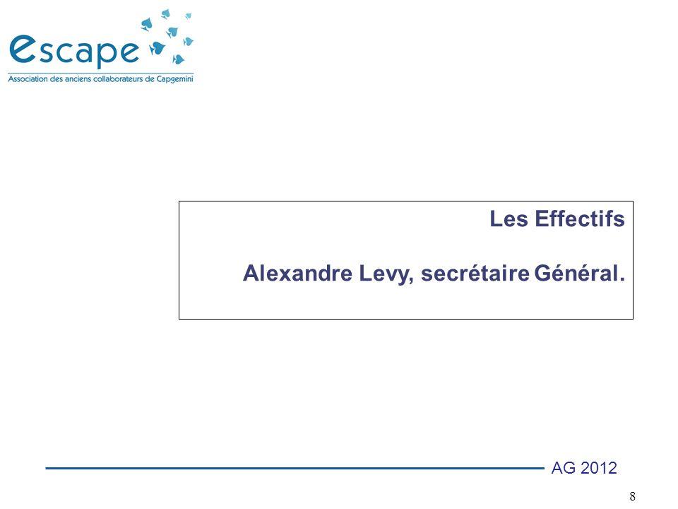 8 AG 2012 Les Effectifs Alexandre Levy, secrétaire Général.