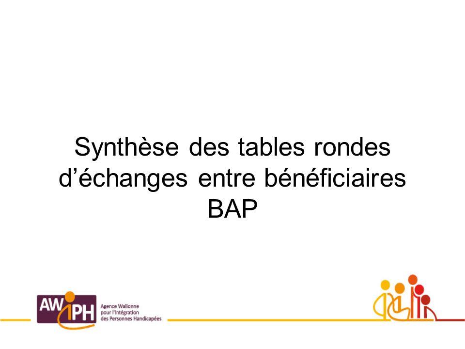 Synthèse des tables rondes déchanges entre bénéficiaires BAP