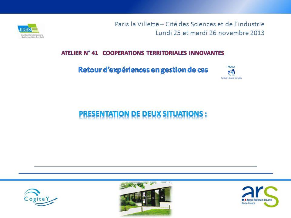 Paris la Villette – Cité des Sciences et de lindustrie Lundi 25 et mardi 26 novembre 2013